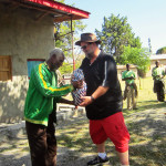 Dan received a gift from the program, a thank you for all his efforts in Kersa